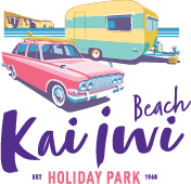 Kai Iwi Beach Holiday Park, Accommodation in Whanganui, New Zealand